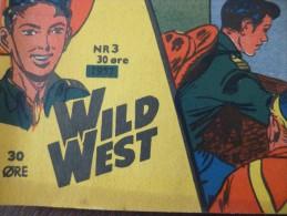 BD Petit Format En Danois Tex Willer Récit Complet Wild West Far West Cowboy  N°3bis Au Dos Superman Et Davy Crockett - Boeken, Tijdschriften, Stripverhalen
