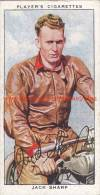 1937 Speedway Rider Jack Sharp - Trading Cards