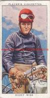 1937 Speedway Rider Dicky Wise - Trading Cards