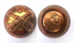 5 Boutons ARTILLERIE. (1870-1914). Grelot. Bronze Doré. 18 Mm - Bottoni