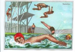 Natation Sport Sports   Belle Chromo Pub: Caisse D'Épargne Circa 1960 80 X 55 Mm Bien - Trade Cards