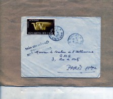 LETTRE OBLITEREE VIET NAM DALAT 8 9 1955 / 10 09 1955 TONG PBUNG DELEGATION DU GOUVERNEUR POUR LES PMS DABAT POSTE AERIE - Vietnam