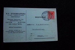 A505 - NIEDERLANDE NETHERLANDS NEDERLAND 154A 18.III.1927 Ooosterhout Houthandel => Dülmen Westfalen - Periode 1891-1948 (Wilhelmina)
