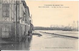 L´inondation De  Janvier 1910 - BRAY-SUR-SEINE - Le Quai De L'Ile Le 26 Janvier - Bray Sur Seine