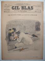 . GIL BLAS .1896 . N° 24 .: UNE HONNETE FEMME Par G. De MEAULNE..  T. BOTREL ..   . DESSINS , STEILEN , BALLURIAU .. .. - 1850 - 1899