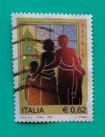 ITALIA 2005. NAVIDAD. USADO - USED. - 6. 1946-.. República