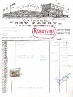 Gent / Stokerij Het Rabot / Groothandel Wijnen En Likeuren / 1961 - Alimentaire