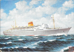 Irlande - Carte Postale PAQUEBOT - BERGENSFJORD  - Posted At Sea 1960 - Bantry - Paquebots