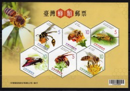 TAIWAN 2012 Rep Of CHINA Bees Wasps Insects Flowers Nature SS MNH
