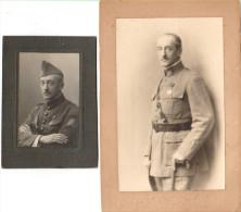2 Photos Général De Brigade Robert Pâris Décoration Légion D'Honneur - Guerre, Militaire
