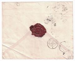1860 OBLITERATION à IDENTIFIER (lettre De Brigade D'ambulant?) Au Dos D'une Enveloppe Avec 2 X N°13 Pc 78 Angers Paris - Marcofilie (Brieven)