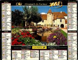 ALMANACH DES P.T.T 2001 (70)  -  Complet ** SAINT AMAND MONTROND  (18) -  CHAUMIERE ** Calendrier * OLLER * N° 219 - Grand Format : 2001-...