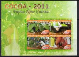 Papua New Guinea 2011 Cocoa Sheetlet Of 4, MNH (C) - Papua New Guinea