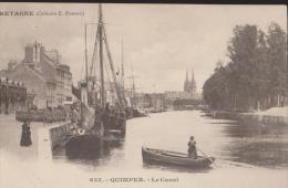 CPA:Quimper:Le Canal:Bretagne:Coll E.Harmonic - Quimper