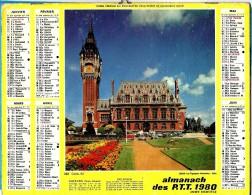 ALMANACH DES P.T.T 1980 (57)  -  Complet ** CALAIS (62) - DAMBACH LA VILLE (67) ** Calendrier * OLLER * N° 222 - Calendriers