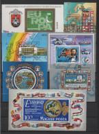 Ungarn - Lot Von 22 Verschiedenen Postfrischen Block- + Kleinbogenausgaben Aus Sammlung - Blokken & Velletjes
