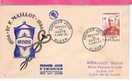ALGERIE , FDC Enveloppe 1er Jour  : Yt 305 , Dr F.MAILLOT 4/01/1954  , Superbe - Algérie (1924-1962)