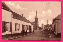 Ligne - Chaussée Brunehaut - Animée - Église - Édition LÉON TONDRIAU Café, Tabacs, Cigares Et Cigarettes, ... - België