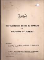 Doc Antiguo, Instrucciones Máquina De Sondeo - Sin Clasificación
