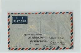 AEROGRAMMA DA SHANGHAI A ROMA - COPPIOLA 5000 + 100.000 SUN YA TZEN - 1912-1949 Republic