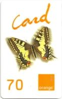 French Guyana - Orange - Butterfly - OC PU01b - Exp. 30.09.2002, 70₣, Used