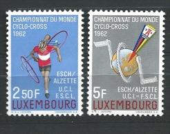 Luxembourg N° 655/6  état: Xx  Cyclo-Cross - Ciclismo