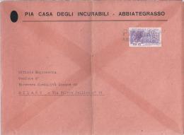 1954 Lettera L. 25 Capacità Contributiva - Uso Singolo Da Abbiategrasso - 6. 1946-.. Repubblica
