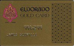 Eldorado Casino Reno NV 6th Issue Slot Card - No Web Address - Embossed Player Info - Casino Cards