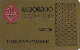 Eldorado Casino Reno NV 6th Issue Slot Card - No Web Address - Printed Player Info - Casino Cards