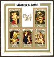 Burundi 1978 OCBnr Bloc 105A ND Ongetand *** MNH Cote 18,00 Euro Noel Kerstmis Christmas - Burundi