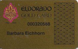 Eldorado Casino Reno NV 7th Issue Slot Card - With Web Address - Casino Cards