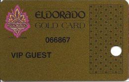 Eldorado Casino Reno NV 7th Issue Slot Card - With Web Address - Printed VIP Guest - Casino Cards