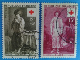 France 1956 : Surtaxe Au Profit De La Croix-Rouge N° 1089 à 1090 Oblitérés - Oblitérés