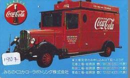 Télécarte Japon * COCA COLA * (1907) JAPAN PHONECARD * TELEFONKARTE * OLDTIMER - Werbung