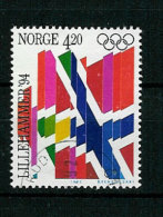 Norway Norge 1992 Olympic Winter Games Lillehammer 1994, Flags Mi 1106  Cancelled(o) - Hiver 1994: Lillehammer