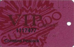 Eldorado Casino Reno NV 13th Issue Slot Card - Larger Auth. Sig. NOT Aligned With Phone#s - Casino Cards