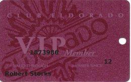 Eldorado Casino Reno NV 17th Issue Slot Card - Smaller Front Logo & Text - Casino Cards