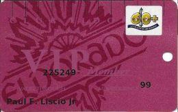 Eldorado Casino Reno NV 16th Issue 60+ Sr Slot Card - (I) Over Mag Stripe - Casino Cards