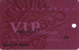 Eldorado Casino Reno NV 18th Issue Slot Card - No Signature Strip - Casino Cards