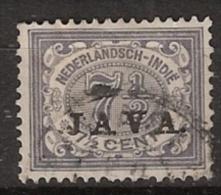 "Ned Indie 1908 Wilhelmina 7,5 Ct """"JAVA"""" NVPH 69 Gestempeld - Indes Néerlandaises"