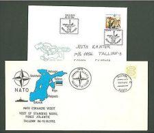 J Estonia B79 2 Covers 1992/94 SC Mail NATO Emblem - Estonie