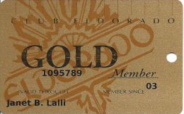Eldorado Casino Reno NV 17th Issue Slot Card - Lower GOLD Member - Casino Cards