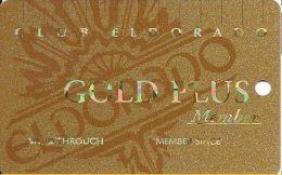 Eldorado Casino Reno NV 14th Issue BLANK Slot Card - Smaller Authorized Signature Text - Cartes De Casino