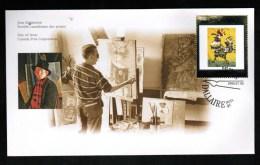 CANADA, 1999, OFDC, # 1800,  ART CANADA  Coq Licorne - Premiers Jours (FDC)