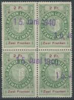 1140 - LUZERN Fiskalmarke Im Viererblock - Steuermarken