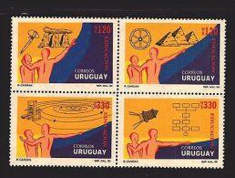 EDUCATION STONE DOLMEN PYRAMID PRESS SOLAR SYSTEM SPACE URUGUAY #1364 MNH STAMP - Espacio