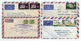 Kenya A52 4 Pcs Covers Used 1978 Air Mail - Kenya (1963-...)