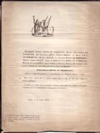 LIEGE VILLERS-l'EVEQUE Pierre-Denis BATTA De NOMERENGE 91 Ans 1849 Famille LHOEST AERTS Hospices Civils De Liège - Esquela