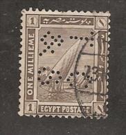 Perfin Perforé Firmenlochung Egypt SG 84 TC&S  Thomas Cook And Son - Égypte