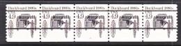 U.S. 2124 A    X 5    PLATE  2      **   BUCKBOARD - Coils (Plate Numbers)